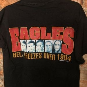 Shirts - Eagles Vintage 94 Hell Freezes Over Band Tee